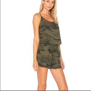 Splendid Camo Romper Shorts One Piece
